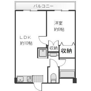 2DK Mansion in Tsurumaki - Setagaya-ku Floorplan