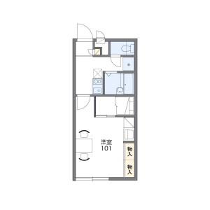 1K Apartment in Kameicho - Chiba-shi Chuo-ku Floorplan