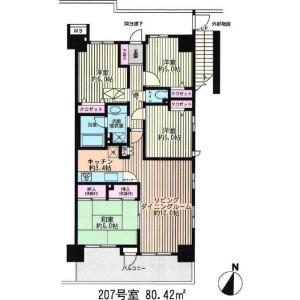 4LDK {building type} in Ogawacho - Yokosuka-shi Floorplan
