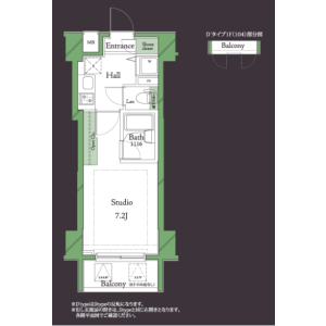 1K Mansion in Hanegi - Setagaya-ku Floorplan