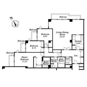 3LDK Apartment in Kamiyamacho - Shibuya-ku Floorplan