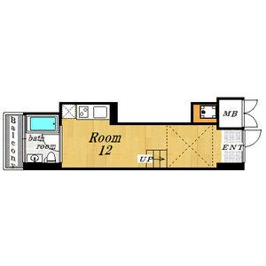 1R Mansion in Benten - Osaka-shi Minato-ku Floorplan