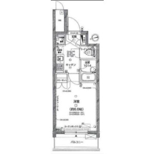 1K Mansion in Irifune - Chuo-ku Floorplan