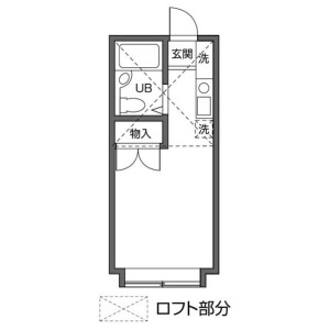 1R Apartment in Umezato - Suginami-ku Floorplan
