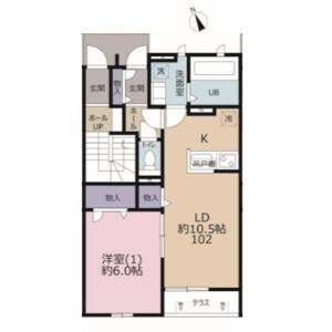 1LDK Apartment in Miyazakicho - Chiba-shi Chuo-ku Floorplan