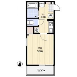 1K Apartment in Ojima - Koto-ku Floorplan
