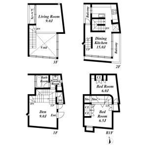 2LDK House in Akasaka - Minato-ku Floorplan