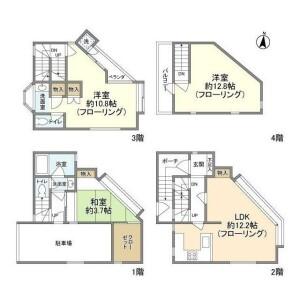 3LDK House in Komaba - Meguro-ku Floorplan