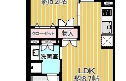 1LDK {building type} in Chiyo - Fukuoka-shi Hakata-ku