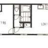 1LDK Apartment to Rent in Shinagawa-ku Floorplan