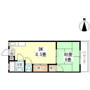 1LDK Apartment in Uguisudanicho - Shibuya-ku Floorplan