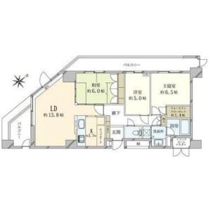 3LDK {building type} in Shibuya - Shibuya-ku Floorplan