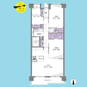 2LDK {building type} in Tatenocho - Nerima-ku Floorplan