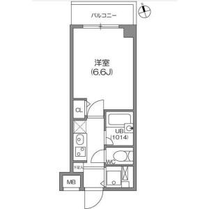 1K Apartment in Kamitakaido - Suginami-ku Floorplan