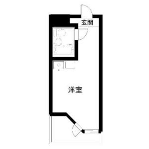 1R Mansion in Ebisu - Shibuya-ku Floorplan