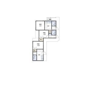 1R Apartment in Nakacho - Meguro-ku Floorplan