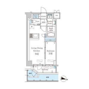 1LDK Mansion in Nampeidaicho - Shibuya-ku Floorplan