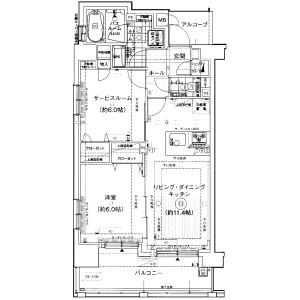 港區芝(1〜3丁目)-1SLDK公寓大廈 房間格局