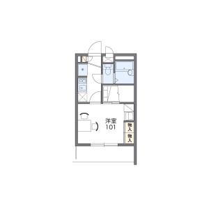 1K Mansion in Koseitori - Nagoya-shi Nishi-ku Floorplan