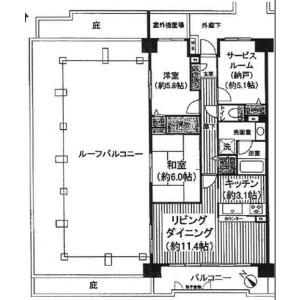 2SLDK Mansion in Yuko - Chiba-shi Chuo-ku Floorplan