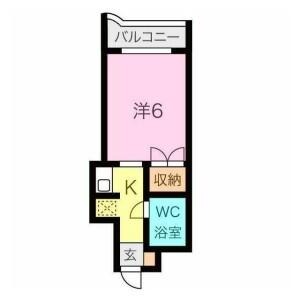 1K {building type} in Sennincho - Hachioji-shi Floorplan