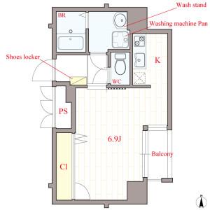 1K Mansion in Nambanaka - Osaka-shi Naniwa-ku Floorplan