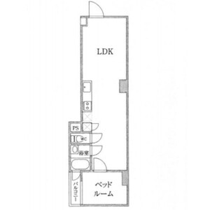 1LDK Mansion in Higashinihombashi - Chuo-ku Floorplan