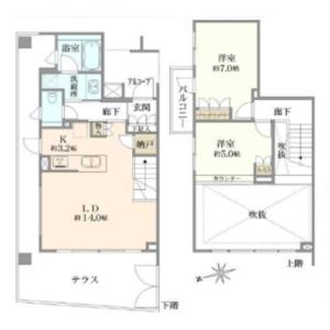 2LDK {building type} in Shimotakaido - Suginami-ku Floorplan