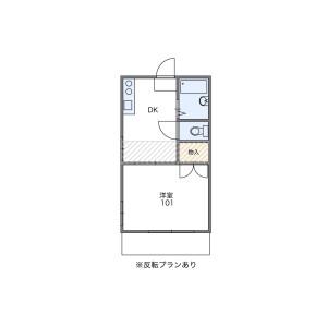 1K Apartment in Inaricho - Kawagoe-shi Floorplan