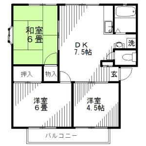 3DK Mansion in Akayamacho - Koshigaya-shi Floorplan