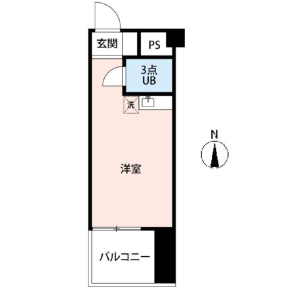 1R {building type} in Maruyamacho - Shibuya-ku Floorplan