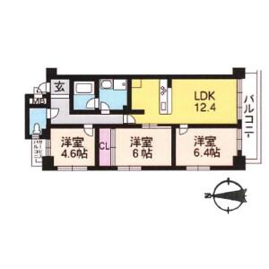 3LDK {building type} in Shogoin entomicho - Kyoto-shi Sakyo-ku Floorplan