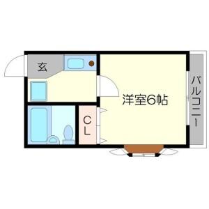 1K Mansion in Nishitanabecho - Osaka-shi Abeno-ku Floorplan