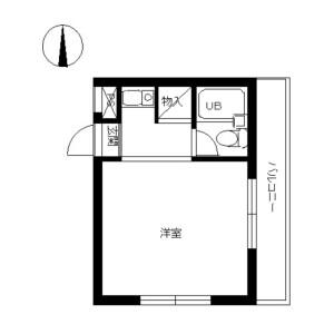 1K Mansion in Chuorinkan - Yamato-shi Floorplan