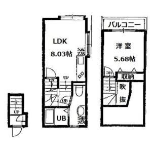 目黒区碑文谷-1LDK公寓大厦 楼层布局