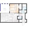 1LDK Apartment to Rent in Sapporo-shi Chuo-ku Floorplan