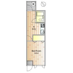 品川區旗の台-1K公寓 房間格局