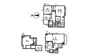渋谷区 富ヶ谷 3LDK アパート