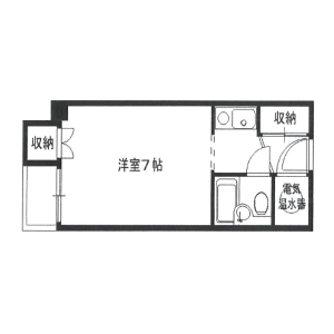 1K Mansion in Shimamachi - Osaka-shi Chuo-ku Floorplan