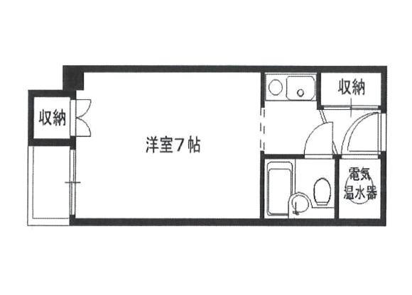 1K Apartment to Rent in Osaka-shi Chuo-ku Floorplan