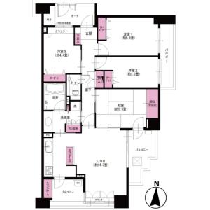 4LDK Apartment in Takanodai - Kodaira-shi Floorplan