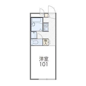 1K Apartment in Miyauchi - Kawasaki-shi Nakahara-ku Floorplan