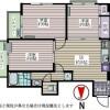 3DK Apartment to Rent in Shinjuku-ku Floorplan