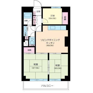 新宿区高田馬場-3LDK公寓大厦 楼层布局