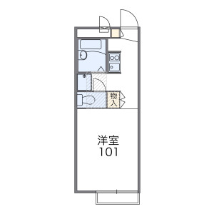 1K Apartment in Ofuna - Kamakura-shi Floorplan