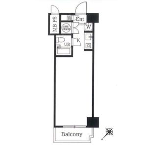 1R {building type} in Tsukiji - Chuo-ku Floorplan