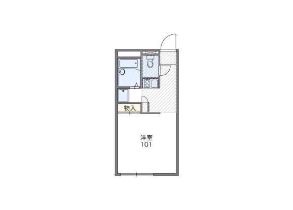 1K Apartment to Rent in Numazu-shi Floorplan