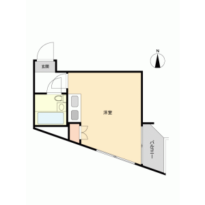板橋區桜川-1R{building type} 房間格局