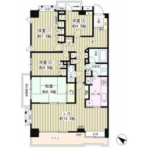4LDK Mansion in Yoga - Setagaya-ku Floorplan