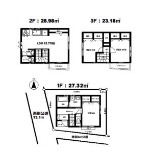 3LDK {building type} in Kitakoiwa - Edogawa-ku Floorplan